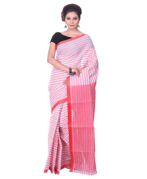 PINK WOVEN TANT COTTON SAREE
