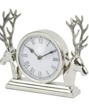 METAL SILVER FINISH CLOCK