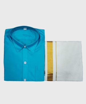 KID'S HANDLOOM SHIRT DHOTHI SET