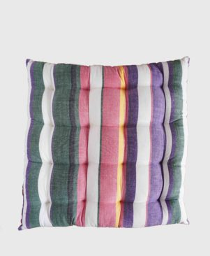 "HANDLOOM COTTON CUSHION 14""X 14"""