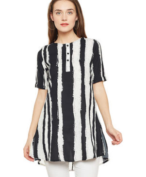 Printed Tunic in Crepe