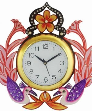 Handmade Crafted Antique Decorative Designer Wooden Analog Wall Clock