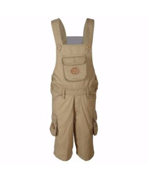 Cotton 3/4 Length Dungaree for Kids