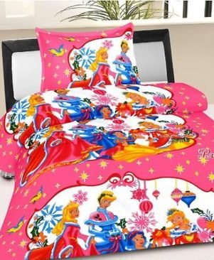 CARTOON PRINTED 90X63 SINGLE BEDSHEET WITH 1 PILLOW COVER