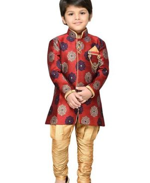 Kids Sherwani with Pajama Set