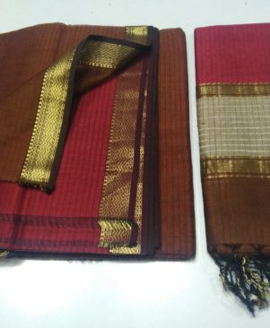 Unstitched Cotton Dress Material With Dupatta