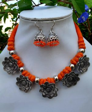 Oxidised German Silver Necklace For Women and girls
