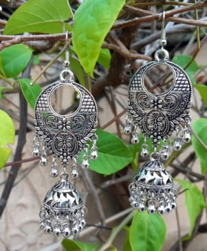 German Oxidized silver Earring Set