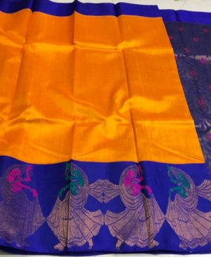 Elagant Kuppadam Silk Saree With Running Blouse