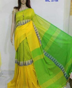 Pure Handloom Khadi Checked Saree
