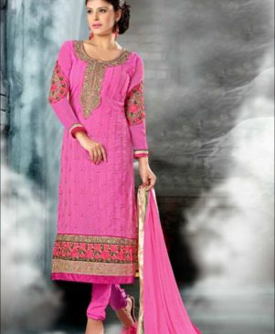 Pink and Golden Straight Suit