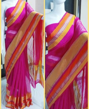 self pattern cotton blend bollywood saree