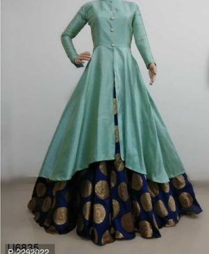 olive Bnglori Solid Gown