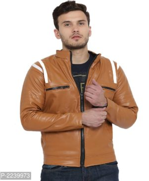 tan pu leather jacket with fur lining