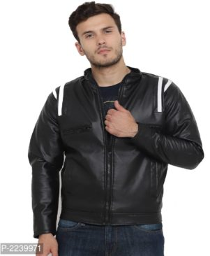 black pu leather jacket with fur lining