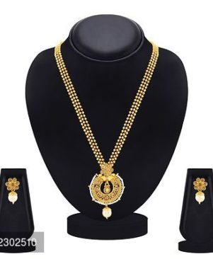 Finely Gold Plated With LCT Stone Pendant Set