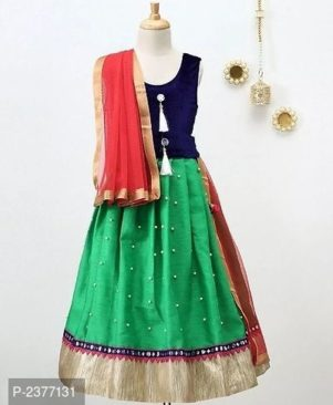 Velvet Choli & Silk Skirt Lehenga Sets