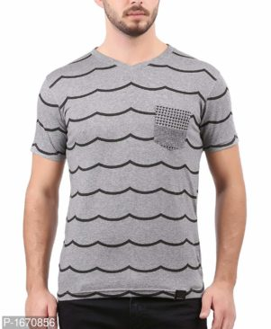 GREY PRINTED COTTON TEES