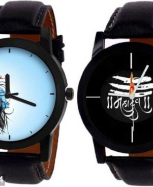 combo of 2 trendy multicoloured analog watch