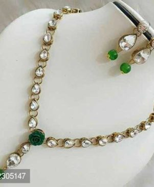 stone necklace green