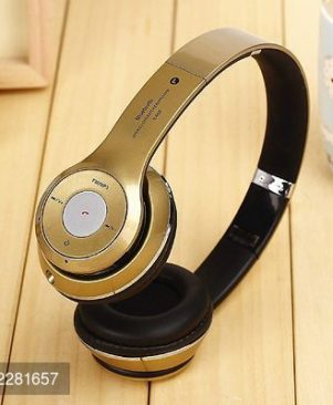 S460 Bluetooth Wired & Wireless Headphones With TF Card/Mic/Fm Support (Golden)