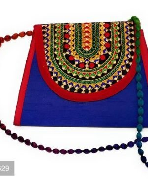 Embroidered  Multi-Color Sling Bag For Girls/Women