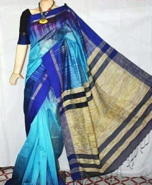 multicoloured handmade ikkat saree