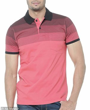 red solid cotton polos