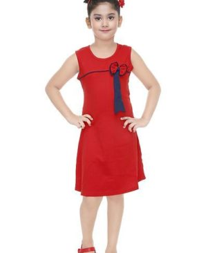 Stylish Casual Cotton Dress For Girls