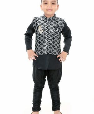Boys Festive & Party Kurta and Churidar Set