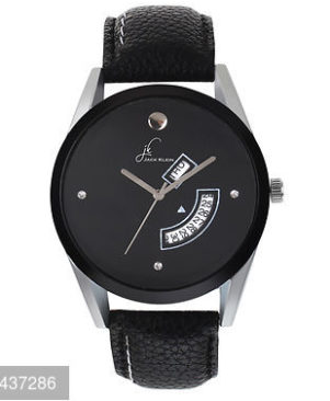Elegant Black Dial Day And Date Working Multi Function Analog Watch