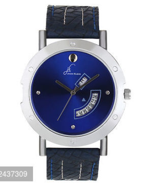 Stylish Blue Elegant Day And Date Working Multi Function Watch