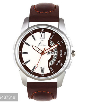 Sporty Brown Day And Date Working Multi Function Watch