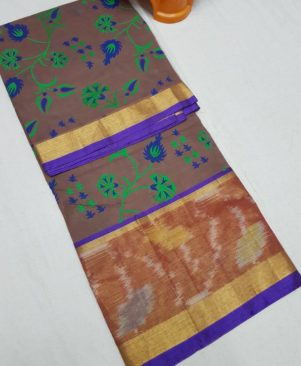 Pochampalli border cotton saree