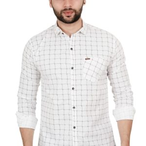red CHECKED COTTON REGULAR FIT CASUAL SHIRT