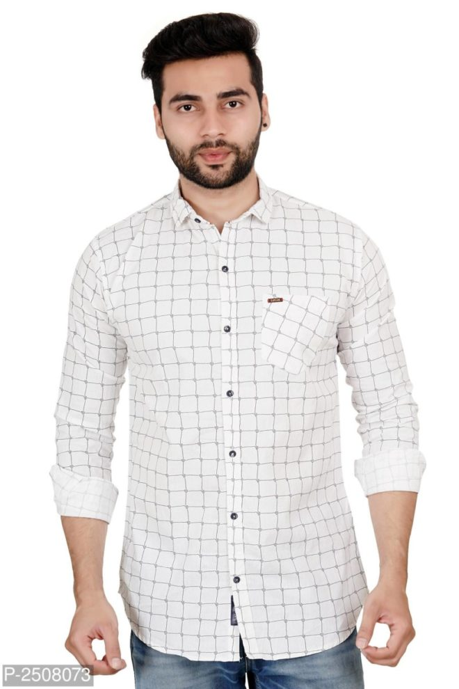 38red CHECKED COTTON REGULAR FIT CASUAL SHIRT