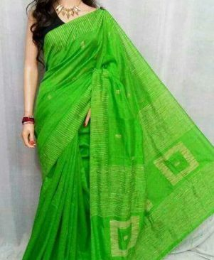 Handloom attractive ghicha saree