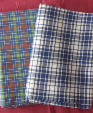 pure handloom cotton lungi combo of two